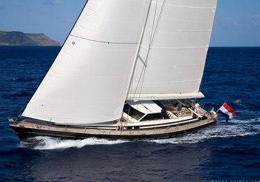 Lush charter yacht