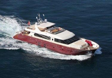 Never Settle charter yacht
