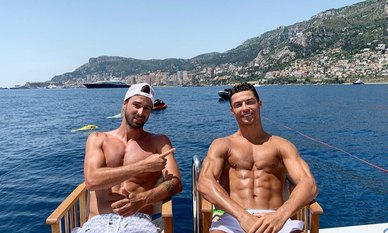 Explore the French Riviera like a footballer: Cristiano Ronaldo shares snaps of luxury South of France yacht charter vacation