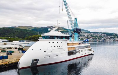 Ulstein Verft's 89m explorer yacht 'Olivia O' begins sea trials
