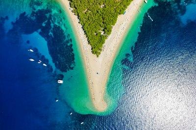 The famous beach of Brac