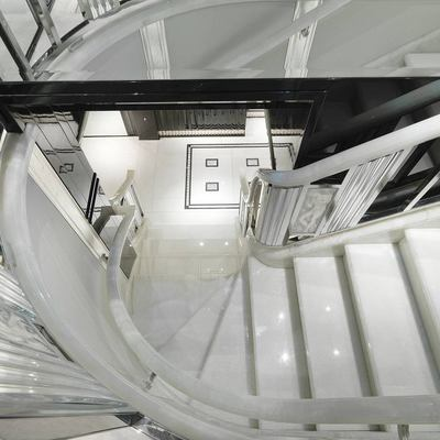 Silver Angel Yacht Top of Staircase