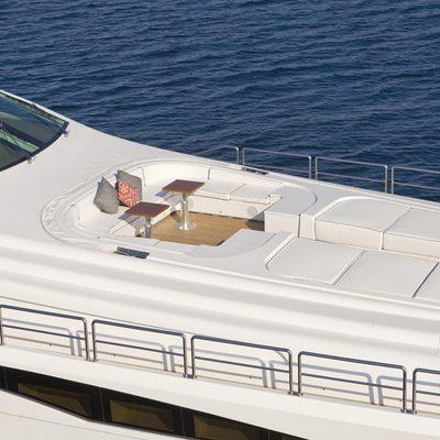 Lisa IV Yacht Aerial - Sun Pads