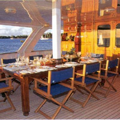 Trafalgar Yacht Aft Deck Dining