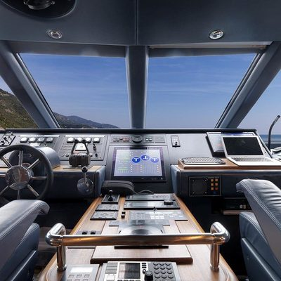 Lady in Blue Yacht