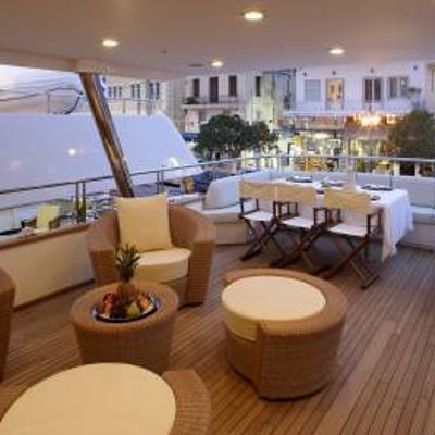 Corvus Yacht Exterior Dining