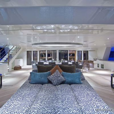 Hemisphere Yacht Aft Seating Area - Detail
