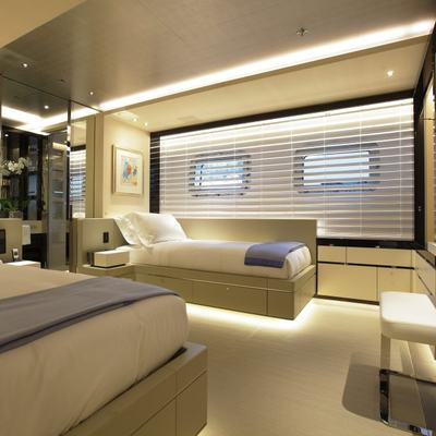 Nautilus Yacht The Illuminated Furniture In One Of The Twin Suites