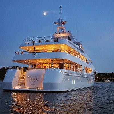 Capri I Yacht Stern - Night