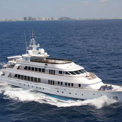 Ionian Princess Yacht Running Shot - Profile