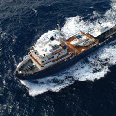 Latitude Yacht Running Shot - Front Aerial