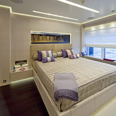 Baraka Yacht Blue Guest Stateroom