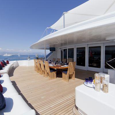 Sarah Yacht Upper deck aft