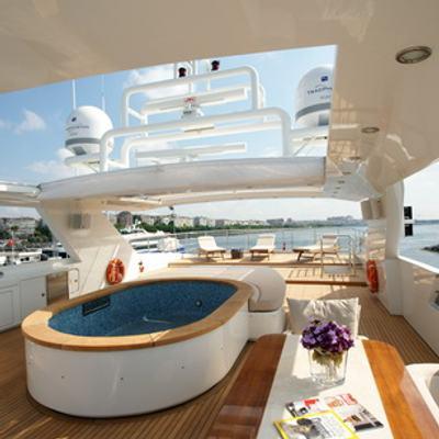 Tatiana I Yacht Jacuzzi on Sundeck
