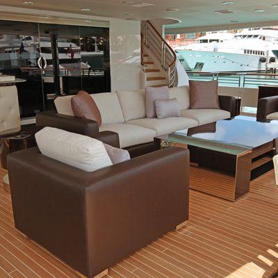 Carpe Diem Yacht Main Aft Deck