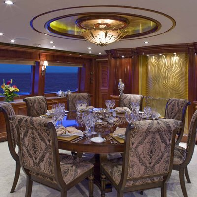 Far From It Yacht Dining Room