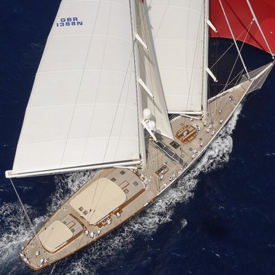 Athos Yacht Aft View - Aerial