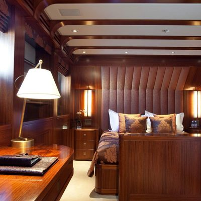 Blind Date Yacht Brown Guest Stateroom