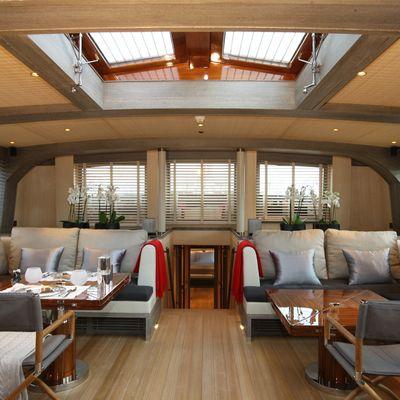 Roxane Yacht Main Salon & Stairs Down
