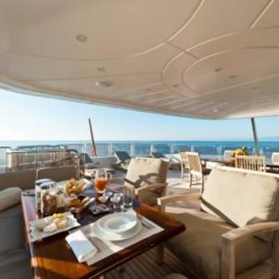 African Queen Yacht Exterior Dining