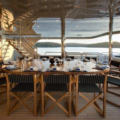 Odessa Yacht Exterior Dining
