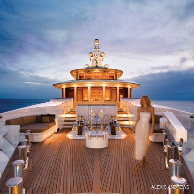 Utopia Yacht Bow - Sunset