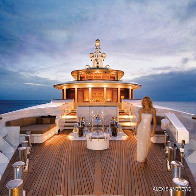 Utopia Yacht Bow - Sunset