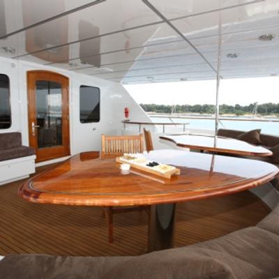 Daydream Yacht Upper Deck Dining