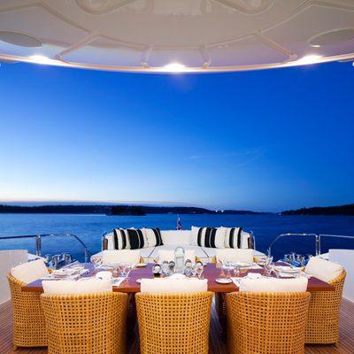 Lisa IV Yacht Sundeck Seating