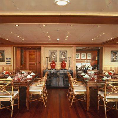 Bleu De Nimes Yacht Dining Area