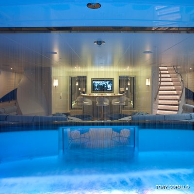 Quite Essential Yacht Pool - Night