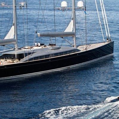 Vertigo Yacht Side View with Tender