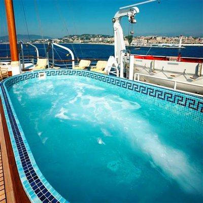 SS Delphine Pool - Night