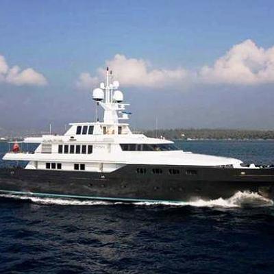 Cyan Yacht Running Shot