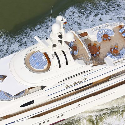 Lady Kathryn V Yacht Aerial View - Decks