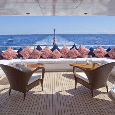 Big Change II Yacht Upper Aft Deck Seating