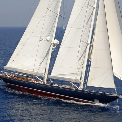 Athos Yacht Running Shot - Profile