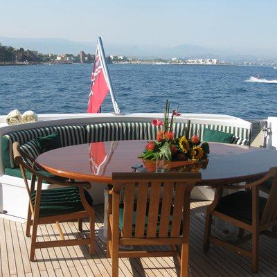 Palm B Yacht Exterior Dining