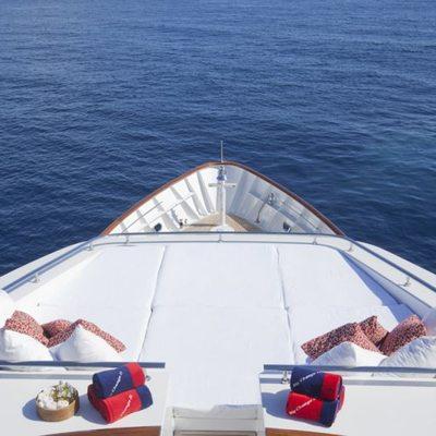 Big Change II Yacht Forward Sunpad Area