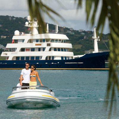 Big Aron Yacht Profile with Tender