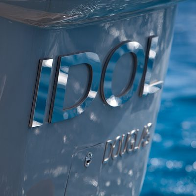 Idol Yacht Detail - Nameplate