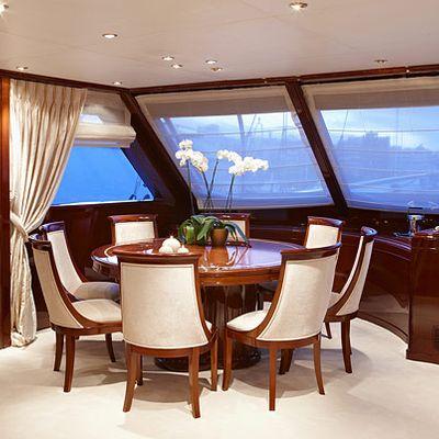 Iraklis L Yacht Interior Dining