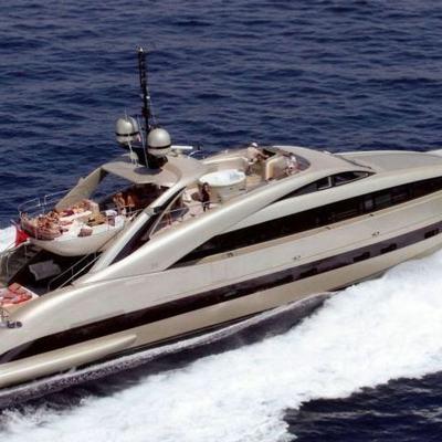 Hooligan II Yacht Running Shot - Aerial View