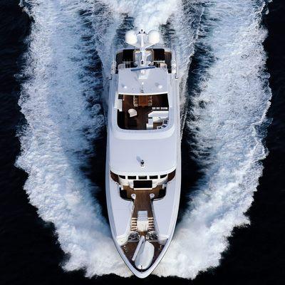 Zaliv III Yacht Aerial View