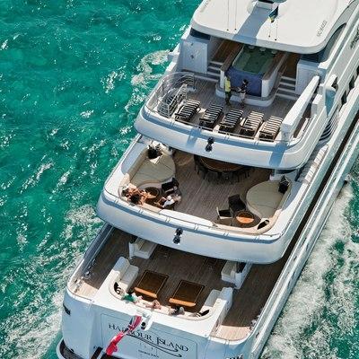 Sovereign Yacht Aerial - Stern Decks