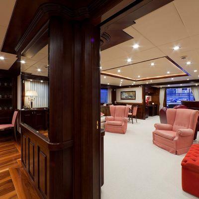 Sophie Blue Yacht View into Main Salon