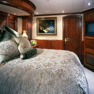 Far From It Yacht Grey Guest Stateroom
