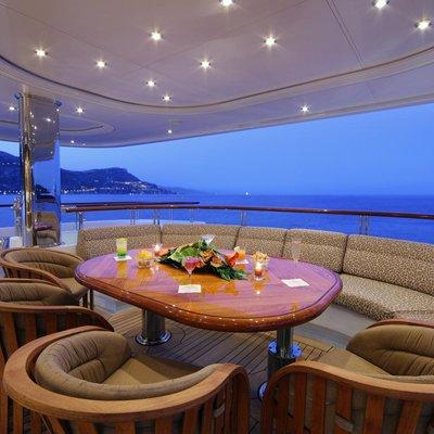 Capri I Yacht Exterior Seating - Night