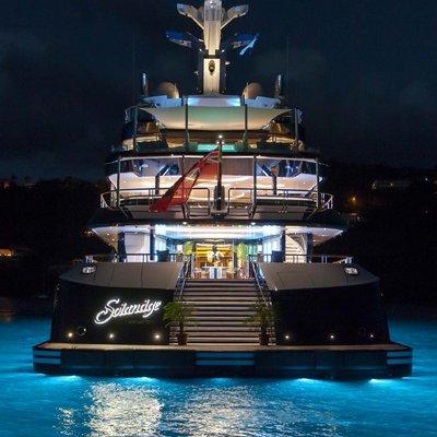 Solandge Yacht Aft Deck At Night
