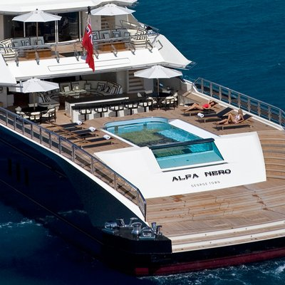 Alfa Nero Yacht Aft View of Pool